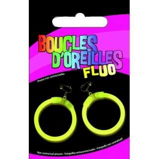 Boucles d'oreilles à clip fluo