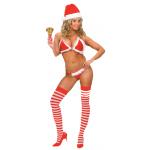 Déguisement bikini christmas string noel
