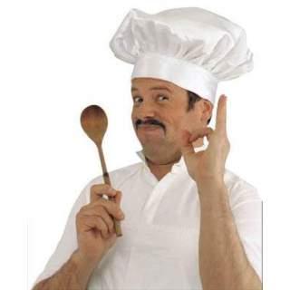 Toque blanche de chef cuisinier