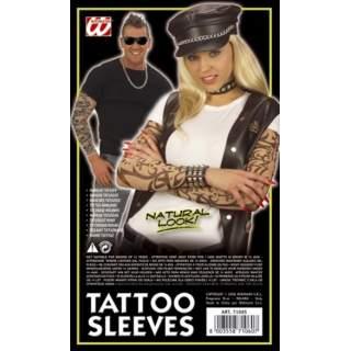 Paire de manches avec faux tatouages