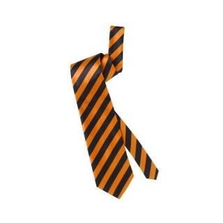 Cravate rayée noir et fluo