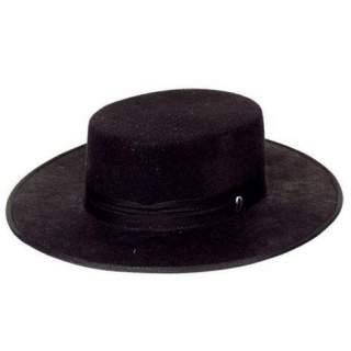 Chapeau feutre noir Espagne