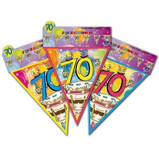 Guirlande fanions anniversaire 70 ans