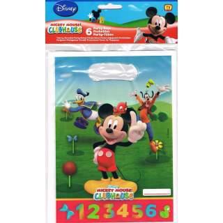 6 sacs à cadeaux Mickey Mouse