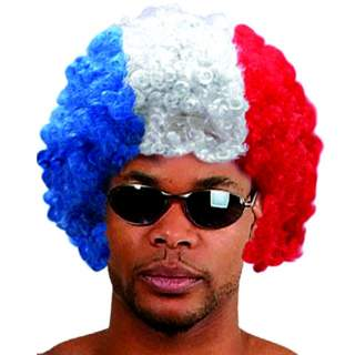 Perruque afro tricolore