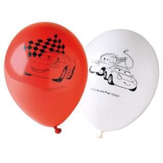 Lot de 6 ballons Cars 2