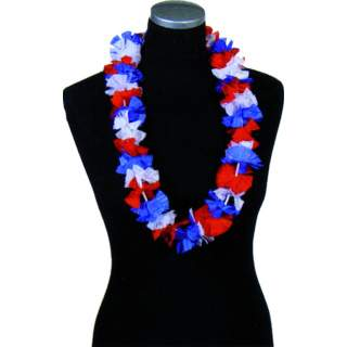 Collier hawaïen tricolore France