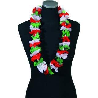 Collier hawaïen tricolore Italie