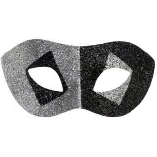Masque domino paillettes