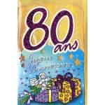 Carte Joyeux Anniversaire 80 ans
