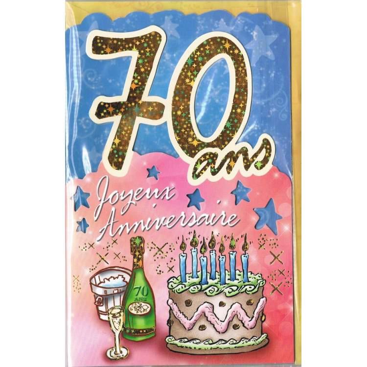 Carte Joyeux Anniversaire 70 Ans Mega Fete