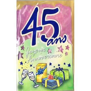 Carte Joyeux Anniversaire 45 Ans Mega Fete