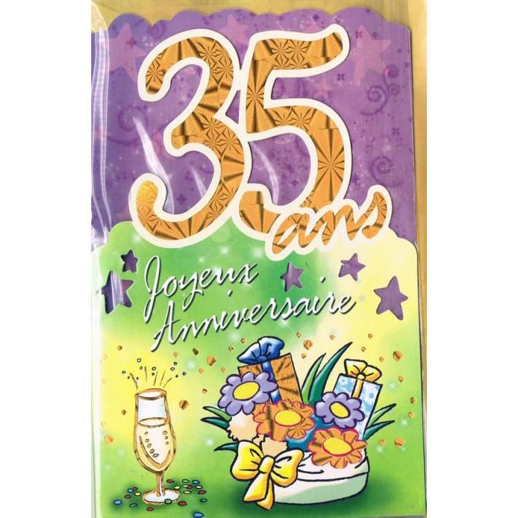 Carte Joyeux Anniversaire 35 Ans Mega Fete