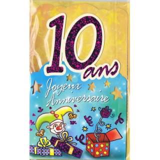 Carte Joyeux Anniversaire 10 Ans