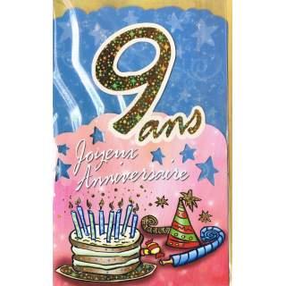 Carte Joyeux Anniversaire 9 Ans