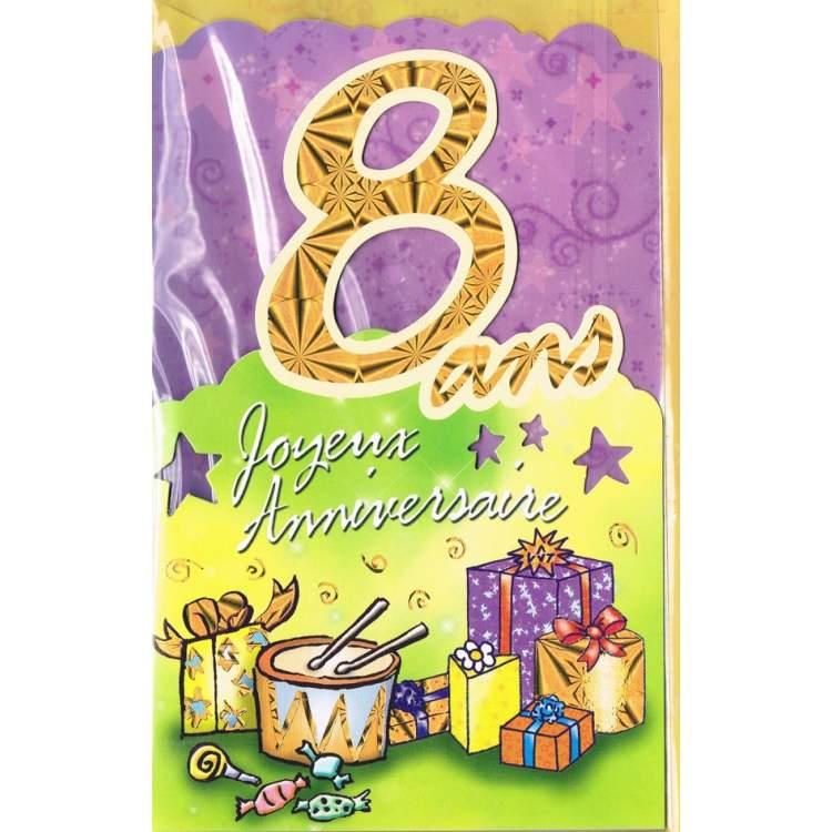 carte joyeux anniversaire 8 ans - Anniversaire 8 Ans