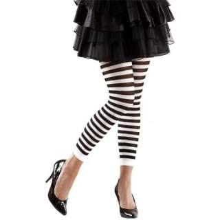 Leggings rayés noir et blanc