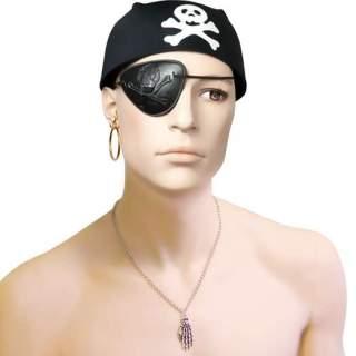Coiffe pirate avec tête de mort