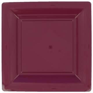 12 assiettes carrées couleurs