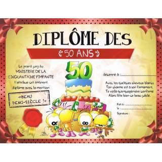 Diplome De 50 Ans Gratuit