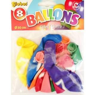 8 ballons chiffre 7