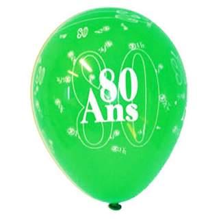 8 ballons anniversaire 80 ans