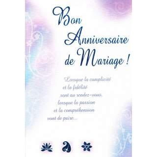 Carte Bon Anniversaire De Mariage