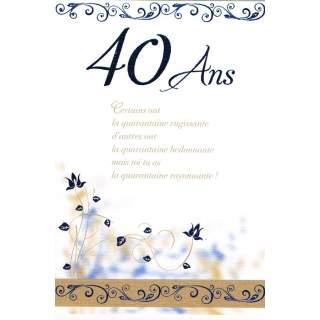 Carte Anniversaire 40 Ans Homme
