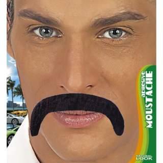 Moustache longue noire adhésive