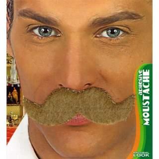 Moustache blonde adhésive