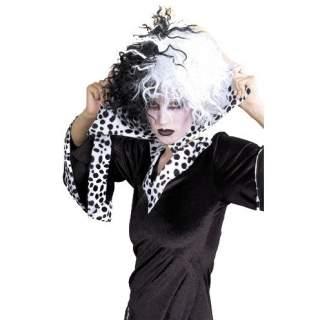 Perruque Cruella noire et blanche