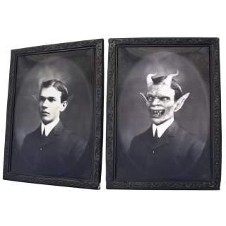 Cadre photo holographique halloween