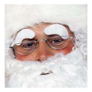 Sourcils blancs du Père Noël