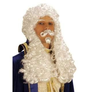 Perruque François avec bouc et moustache
