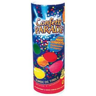 Bombe de table confettis de scène