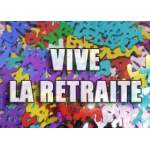 "Confettis de table ""Vive la retraite"""