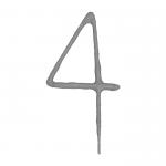 Cierge magique chiffre 4