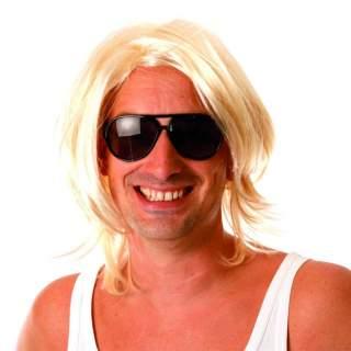 Perruque surfeur blonde