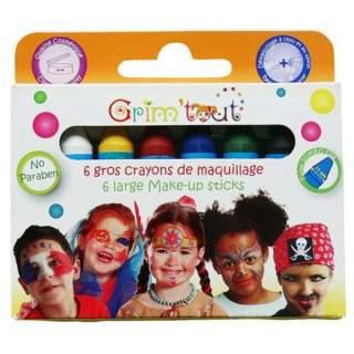 6 gros crayons de maquillage