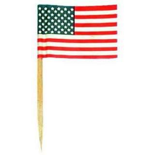 50 mini drapeaux USA sur pic