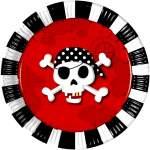 8 assiettes carton pirate